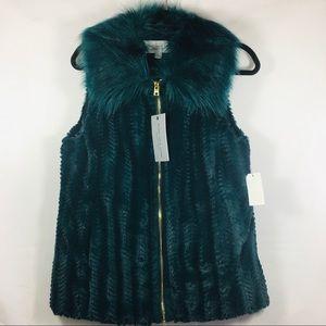 Marc New York Faux Fur Zip Front Vest